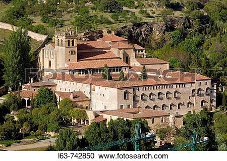 Stock Photography of Santa Maria del Parral monastery, Segovia.