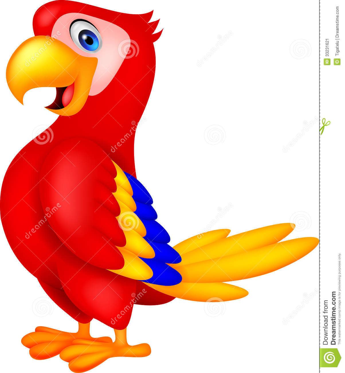 Cute Parrot Clipart.