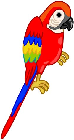 Parrot Clip Art Cartoon.