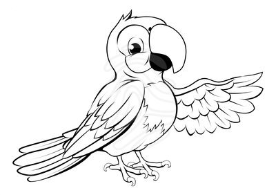 Flying parrot clipart black and white 4 » Clipart Portal.