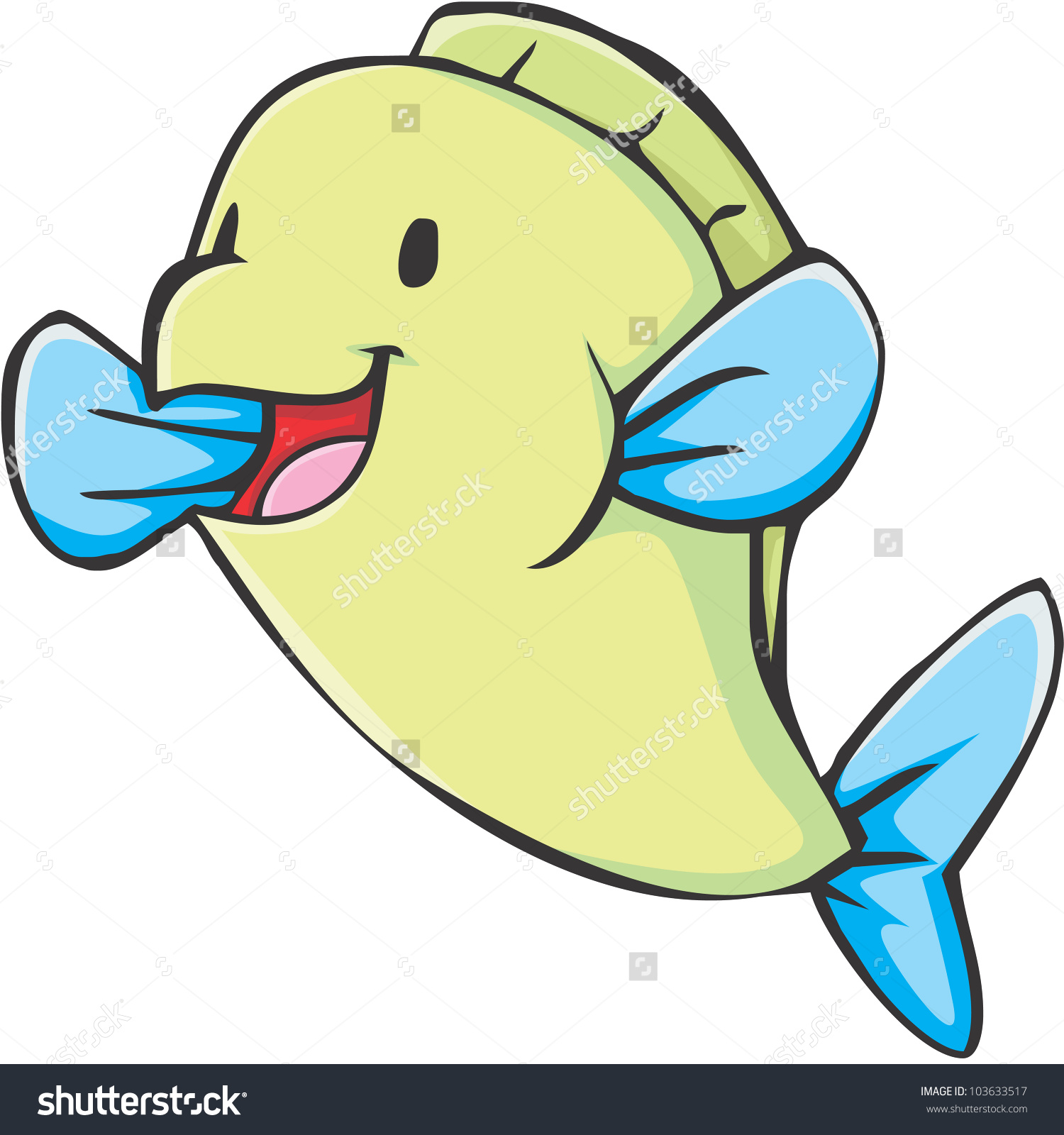 Happy Parrotfish Cartoon Stock Vector 103633517.