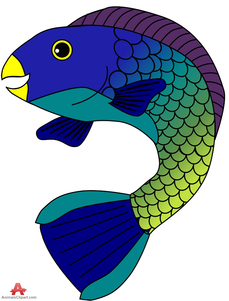 Stoplight Parrotfish Clipart.