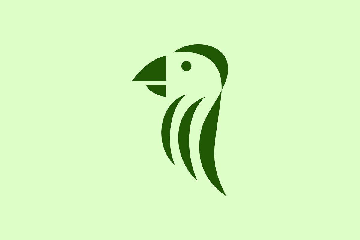 simple parrot logo.