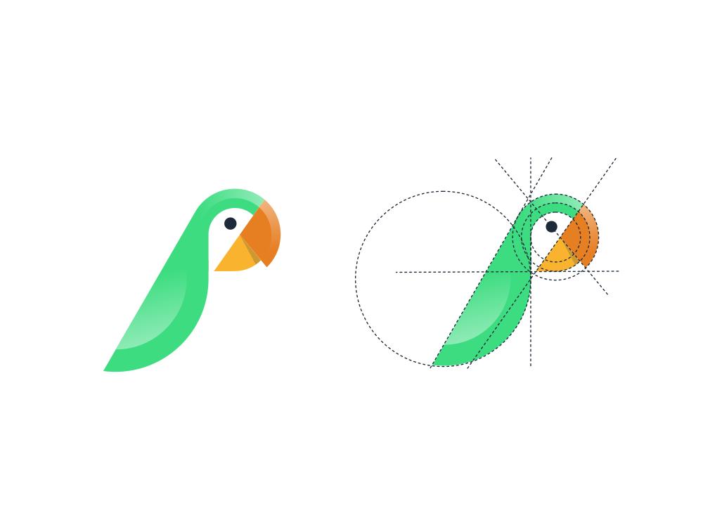 Parrot Logo by Garagephic Studio on Dribbble.