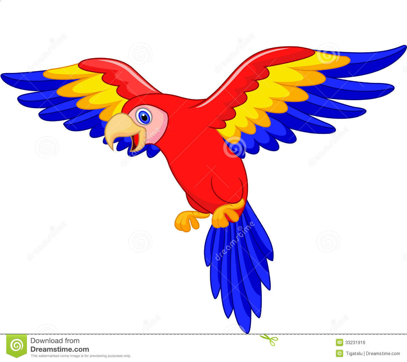 Cartoon Parrot Clipart.