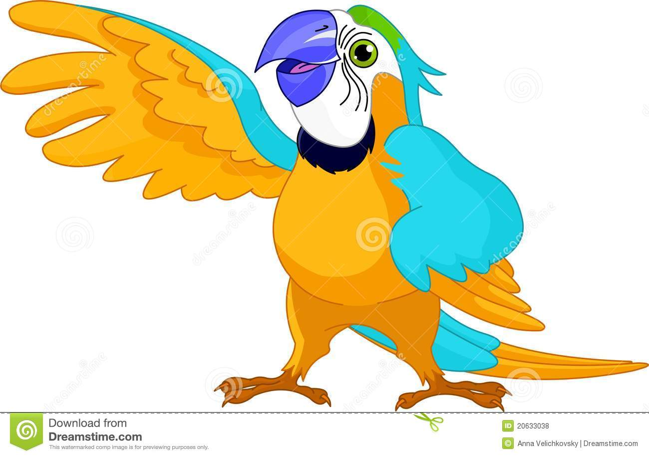 Talking Parrot Clipart.