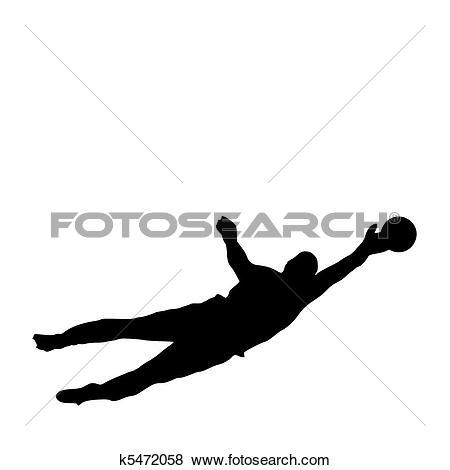 Clip Art of Goalie Parry k5472058.