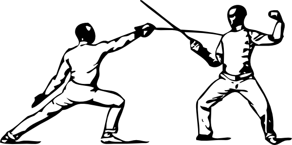 Fencing Parry Of Sixte Clip Art at Clker.com.