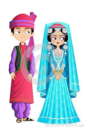 Muslim Wedding Couple Royalty Free Stock Photo.