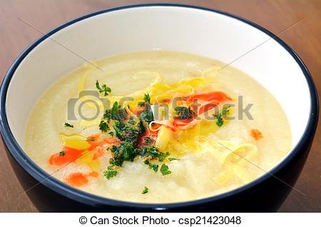 Stock Photo of Parsnip soup.