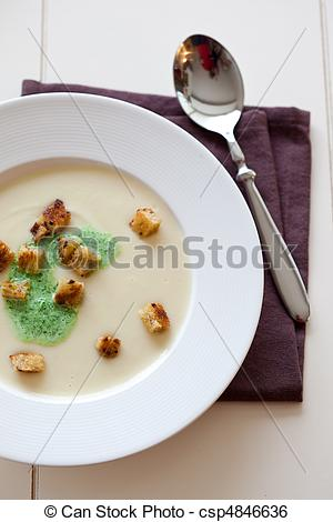 Stock Image of Parsnip soup.