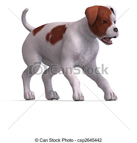 Clip Art of cute puppy parson.
