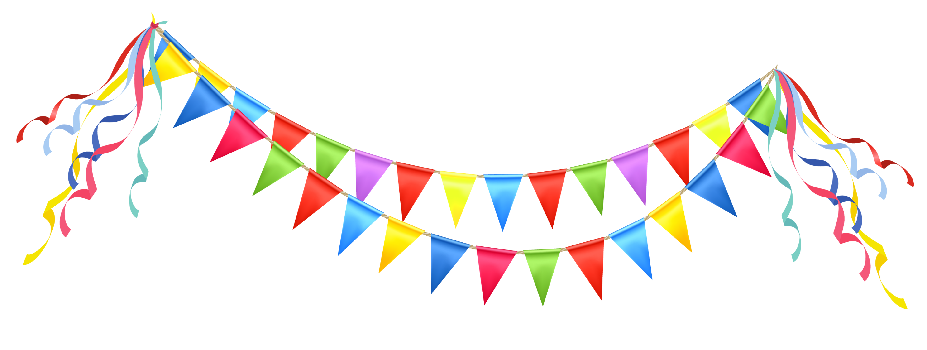 Transparent Party Streamer PNG Clipart Picture.
