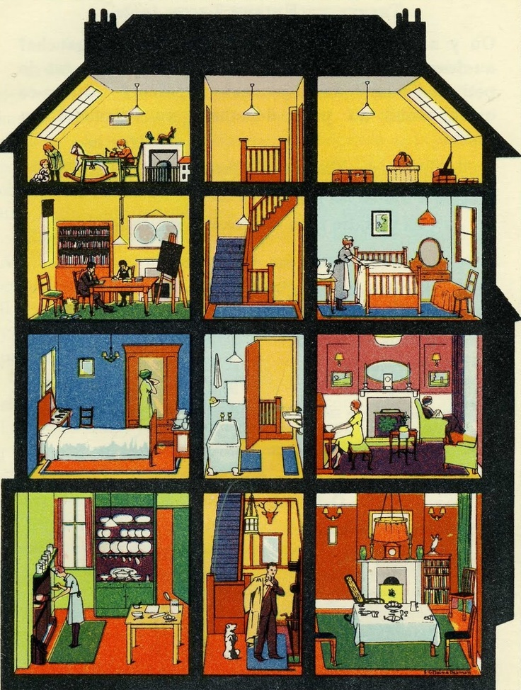 42 best images about Vocabulary of house and town on Pinterest.
