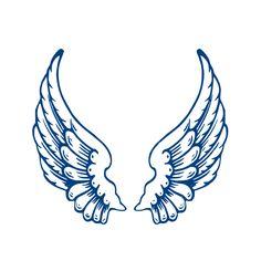 draw angel wings.