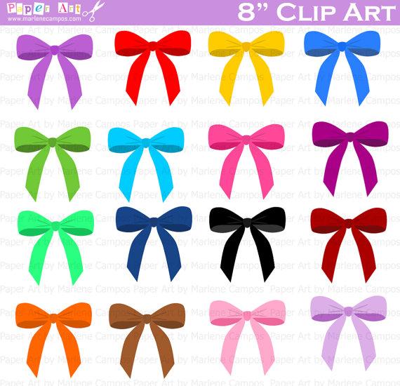 Bows Clip Art, Digital Clipart, Birthday Party Clip Art.