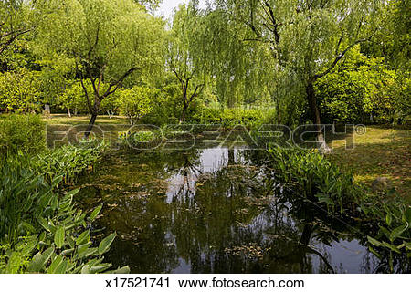 Stock Photography of Pool in Hangzhou Parterre Park x17521741.