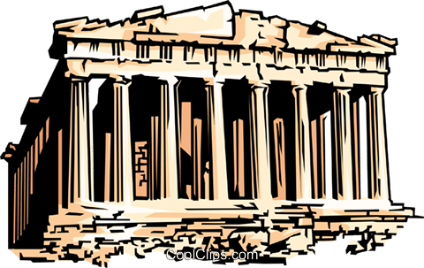 Parthenon Royalty Free Vector Clip Art illustration.