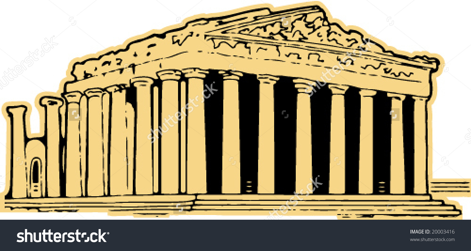 Parthenon Greece Vector Clipart Stock Vector 20003416.