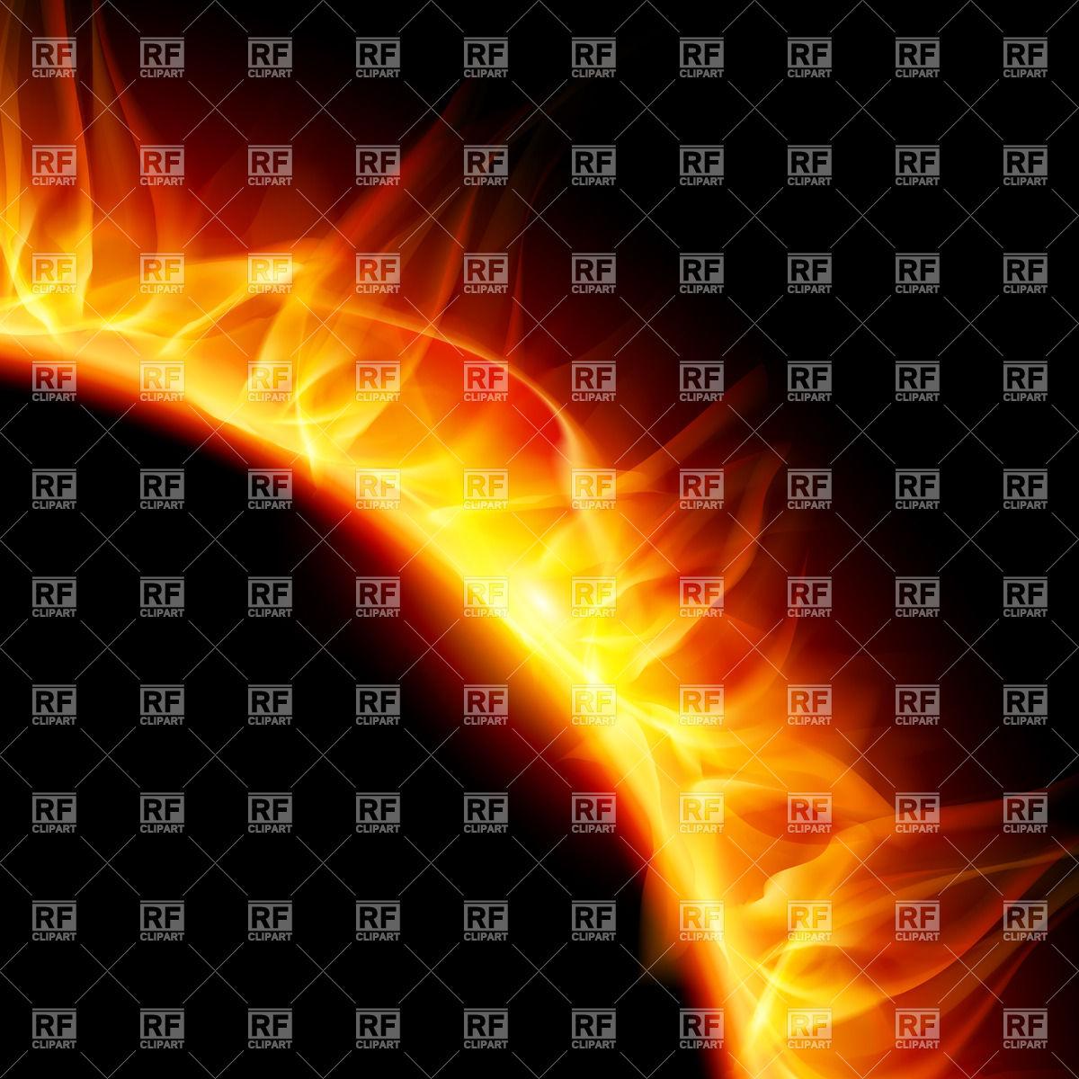 Partial view of blazing solar corona Vector Image #30418.