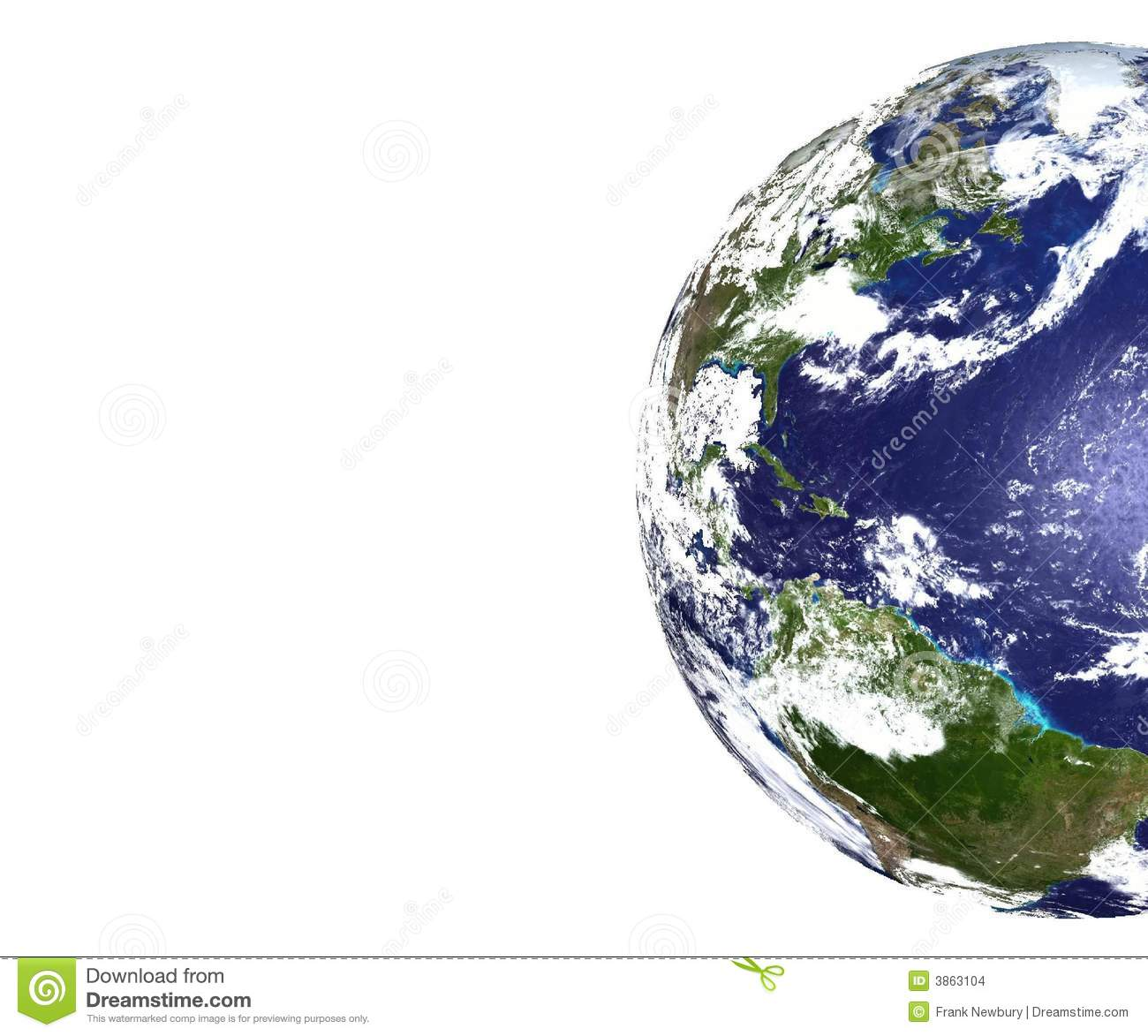 Partial View Of Planet Earth Stock Images.