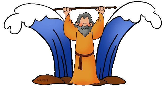 Parting of the red sea clipart.