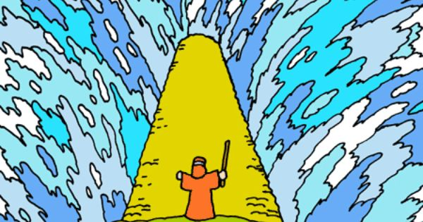 Moses Parting The Red Sea Clipart.