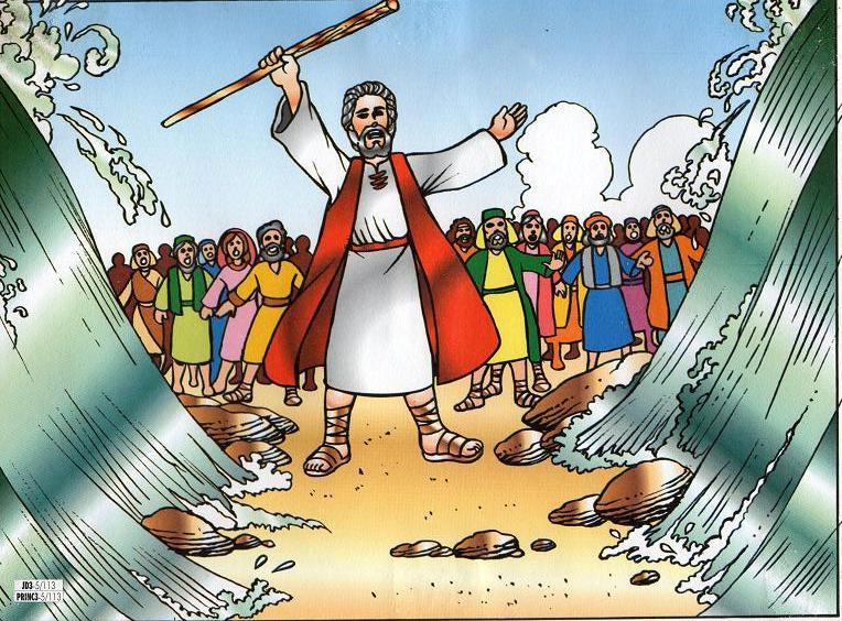 Moses parting the red sea clipart 1 » Clipart Portal.