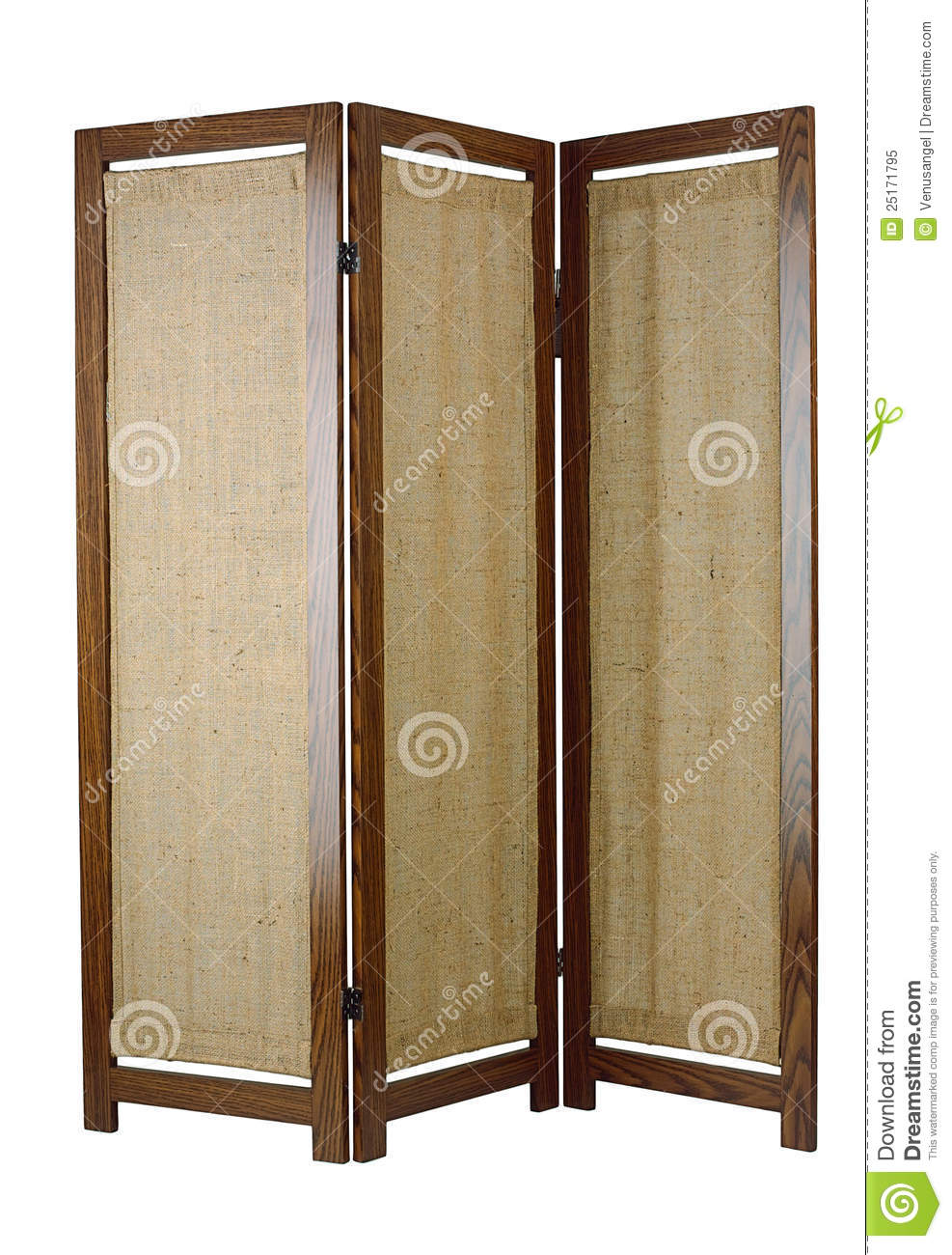 Fabric Partition With Wooden Frame Royalty Free Stock Photo.