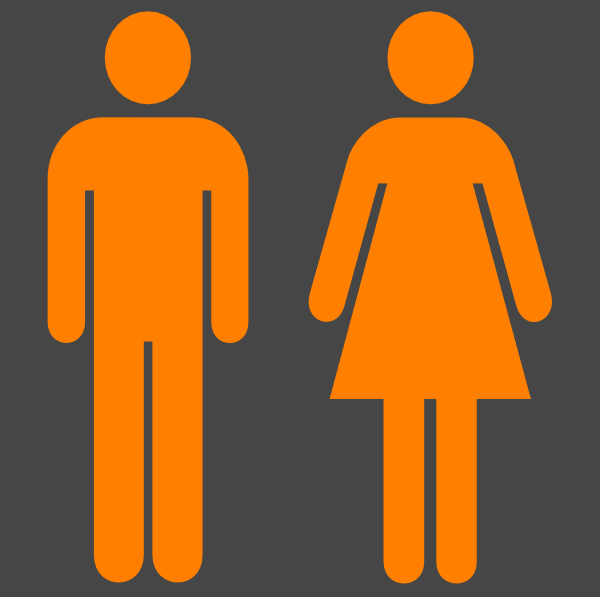 Man Woman Symbol In Orange Without Partition Clip Art at Clker.com.