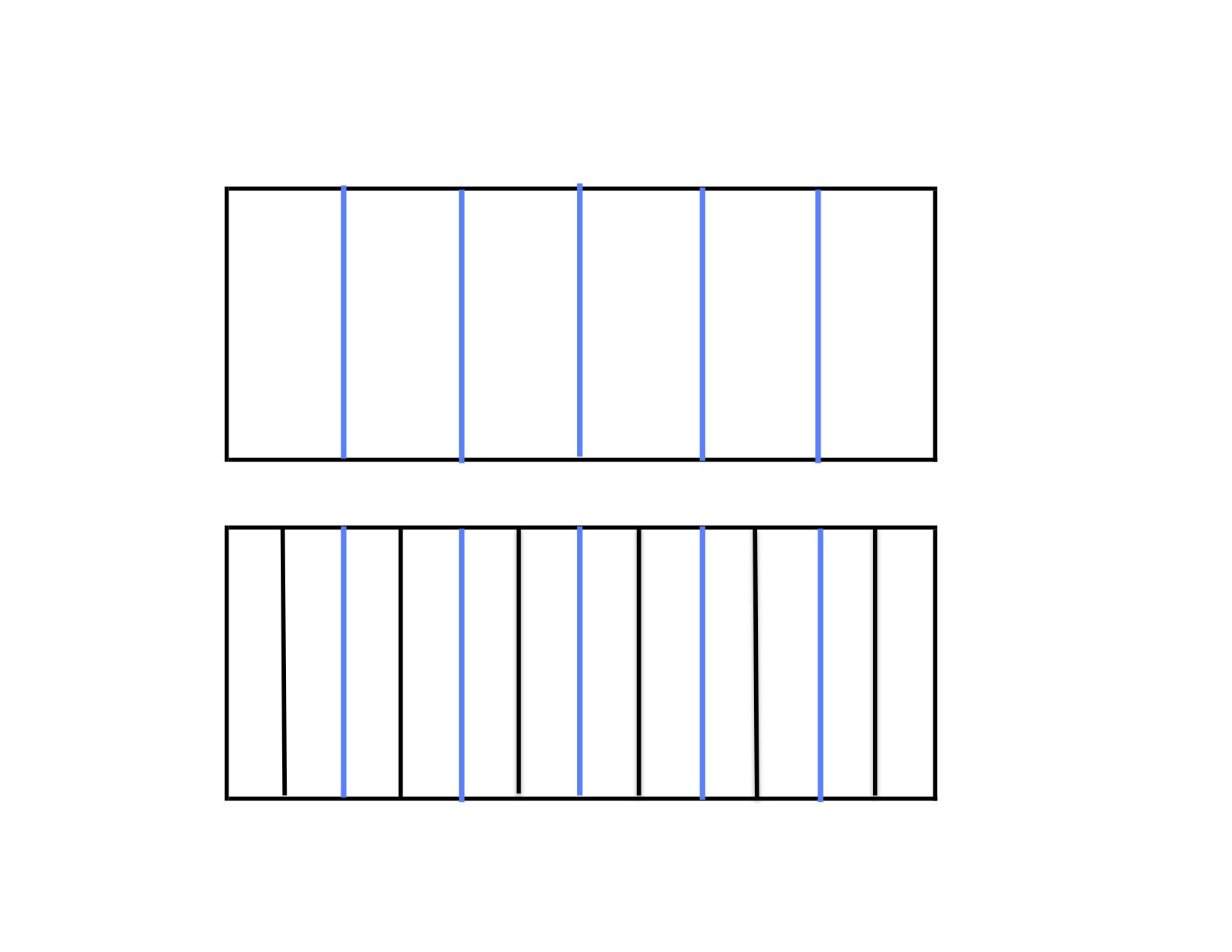 Are the Fractions Equivalent Students partition squares to model.