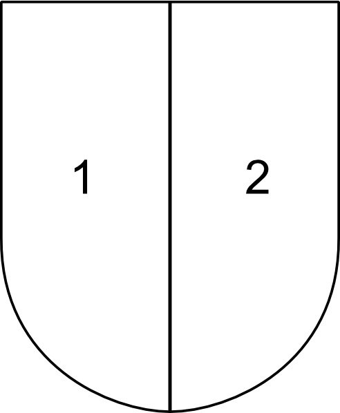 Partitioned Shield clip art Free vector in Open office drawing svg.
