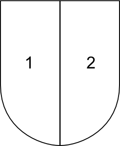 Partitioned Shield clip art Free Vector / 4Vector.