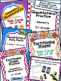 Partitioning Shapes Task Cards.