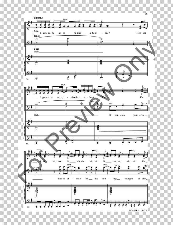 Partitura j.w. canción de coro de pimienta e hijo, partitura.