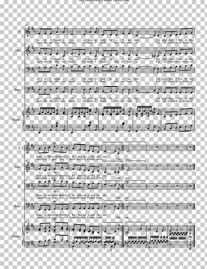 Partitura ave maria canción nota musical, partitura PNG.