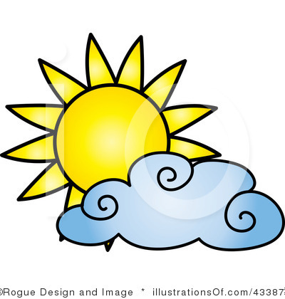 Partly cloudy clip art free.