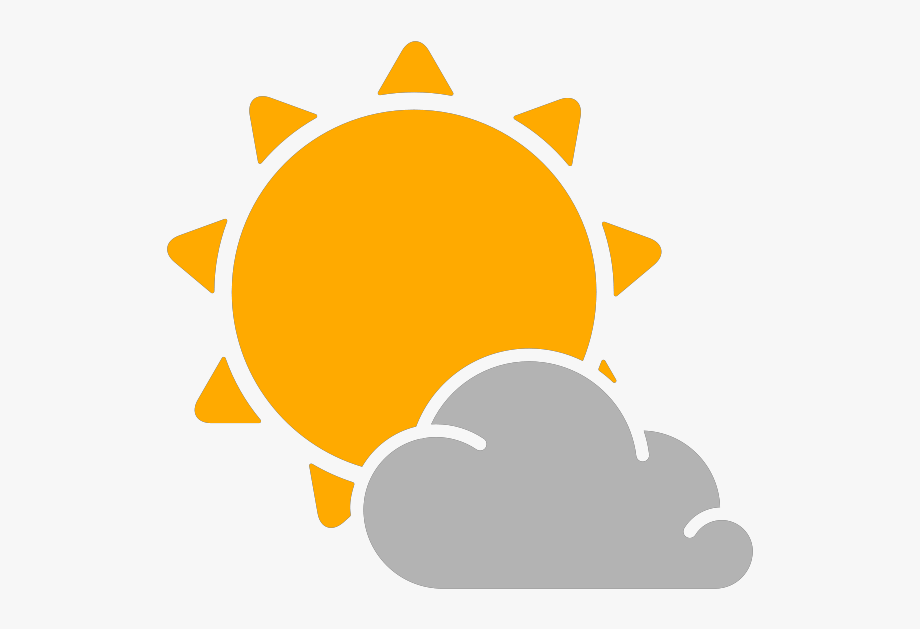 Simple Weather Icons Partly Cloudy Svg Vector Clipart.
