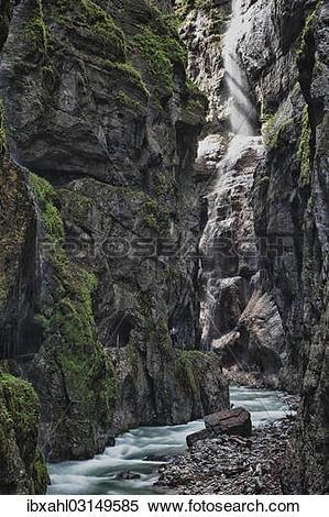 """Stock Image of """"Partnachklamm gorge, Garmisch, Bavaria, Germany."""