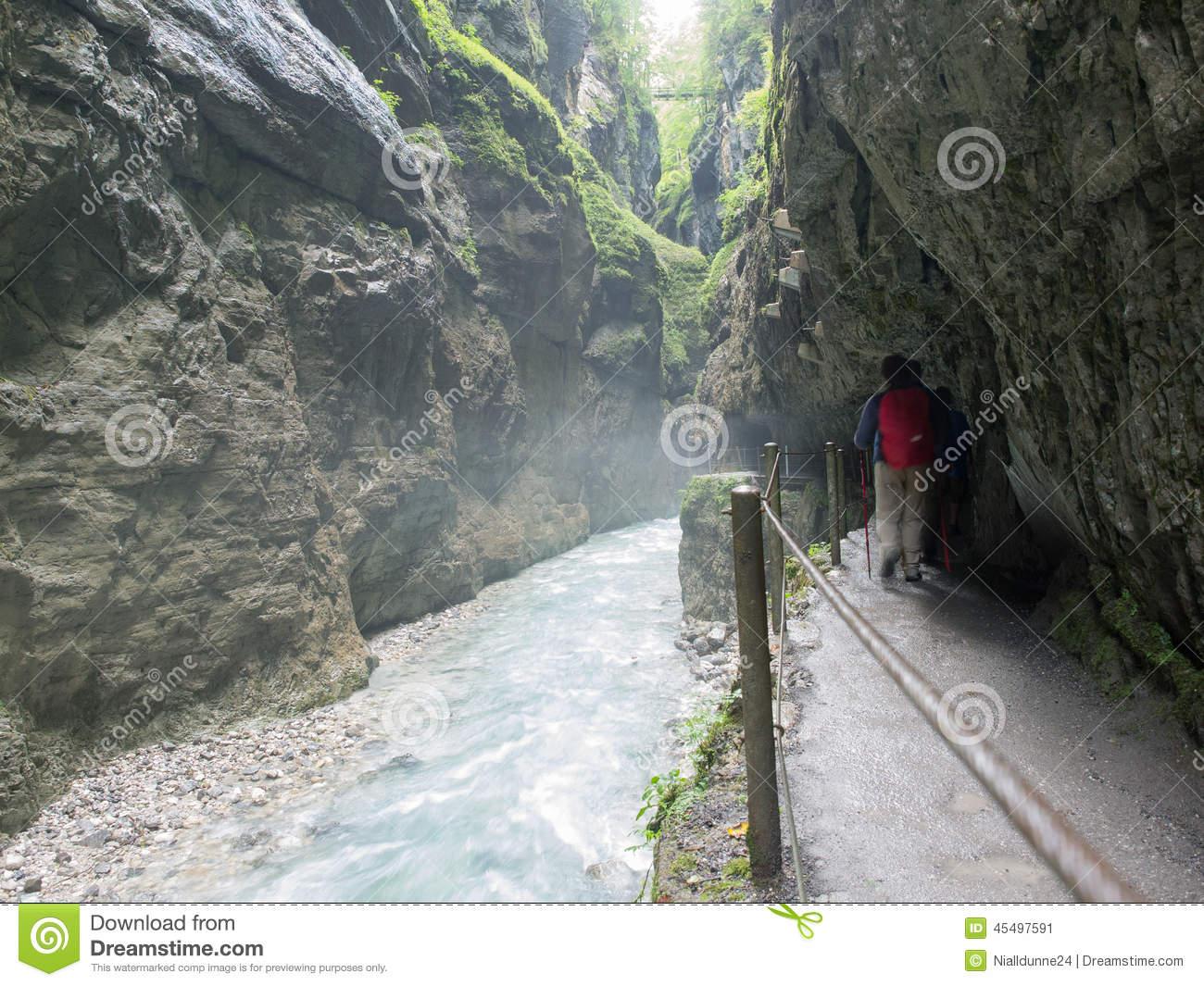 Partnach Gorge, Bavaria, Germany Stock Photo.