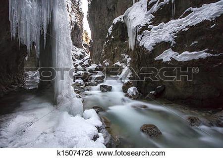 Pictures of Partnachklamm gorge in Bavaria, Germany k15074728.