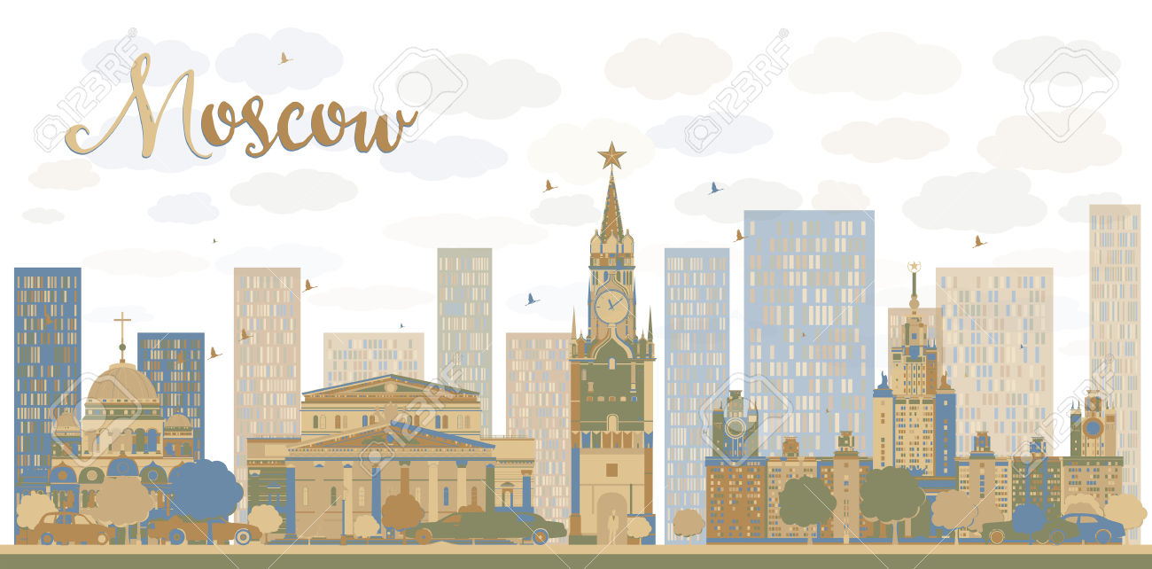 396 Moscow Skyline Cliparts, Stock Vector And Royalty Free Moscow.