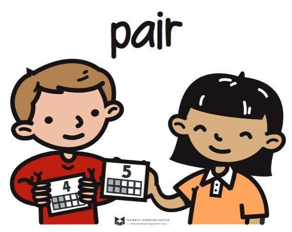 Math Partner Work Clipart.