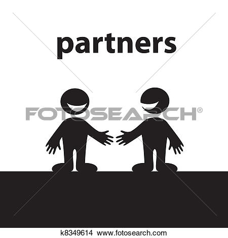 Clipart of partners k8349614.