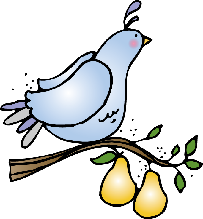 Partridge In A Pear Tree Clip Art.