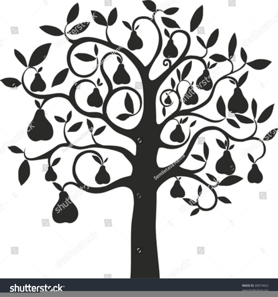 Free Partridge In A Pear Tree Clipart.