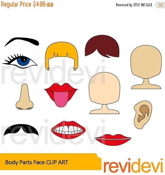 Face parts clipart.
