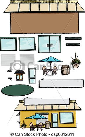 Vector Clip Art of Build Your Own Store.