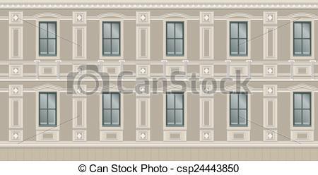 Clipart Vector of Building facade parts.