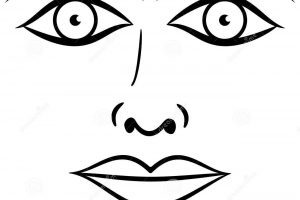 Parts of the face clipart black and white 4 » Clipart Portal.